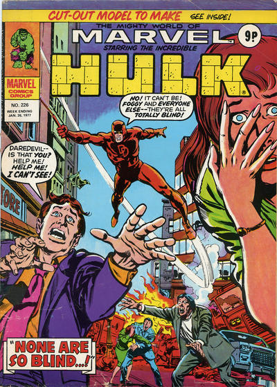 Cover for The Mighty World of Marvel (Marvel UK, 1972 series) #226