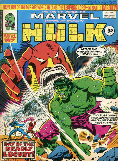 Cover for The Mighty World of Marvel (Marvel UK, 1972 series) #224