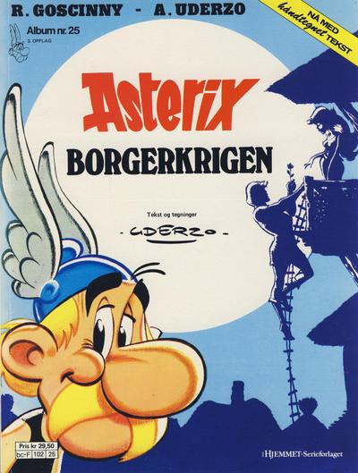 Cover for Asterix (Hjemmet / Egmont, 1969 series) #25 - Borgerkrigen [3. opplag]