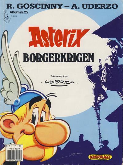 Cover for Asterix (Hjemmet / Egmont, 1969 series) #25 - Borgerkrigen [3. opplag Reutsendelse 147 34]