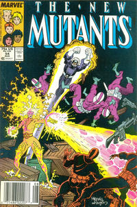 Cover Thumbnail for The New Mutants (Marvel, 1983 series) #54 [Newsstand Edition]