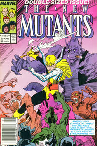 Cover Thumbnail for The New Mutants (Marvel, 1983 series) #50 [Newsstand Edition]