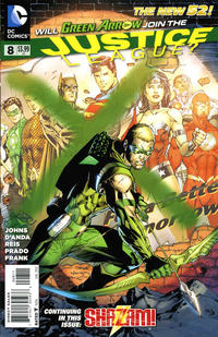 Cover Thumbnail for Justice League (DC, 2011 series) #8 [Jim Lee Cover]