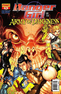 Cover Thumbnail for Danger Girl and the Army of Darkness (Dynamite Entertainment, 2011 series) #5 [Nick Bradshaw Cover]
