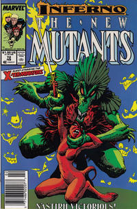 Cover Thumbnail for The New Mutants (Marvel, 1983 series) #72 [Newsstand Edition]