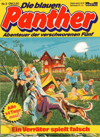 Cover Thumbnail for Die blauen Panther (Bastei Verlag, 1980 series) #3 - Ein Verräter spielt falsch