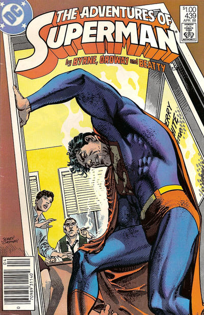 Cover for Adventures of Superman (DC, 1987 series) #439 [Direct]