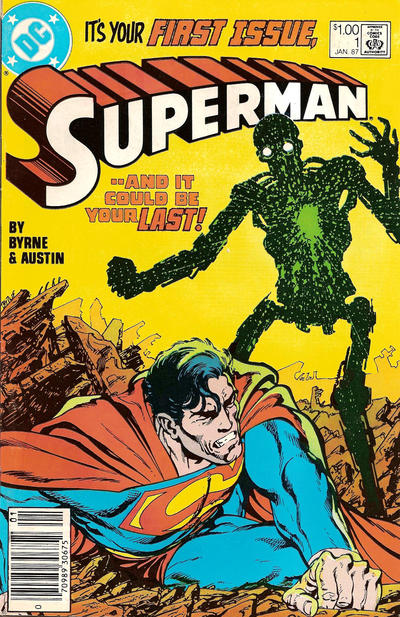 Cover for Superman (DC, 1987 series) #1 [Direct Edition]