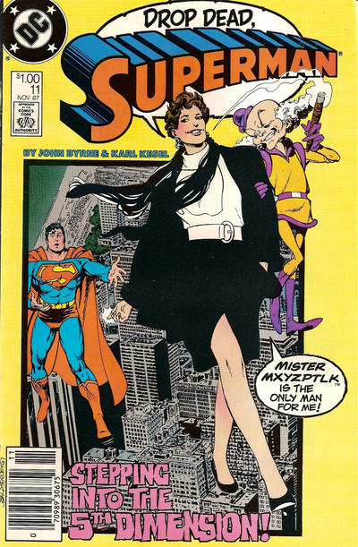 Cover for Superman (DC, 1987 series) #11 [Direct Edition]