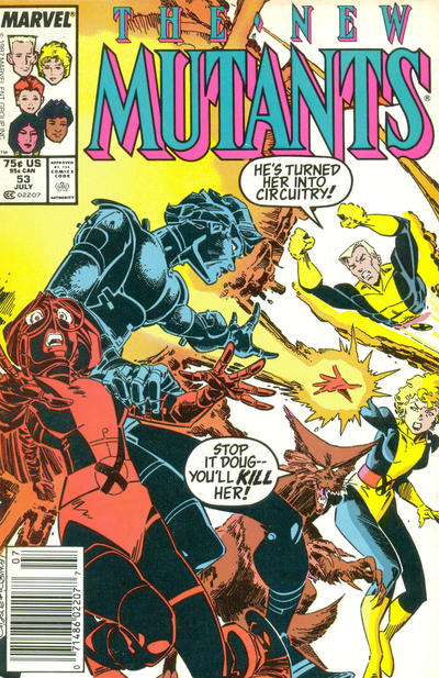 Cover for The New Mutants (Marvel, 1983 series) #53 [Newsstand Edition]