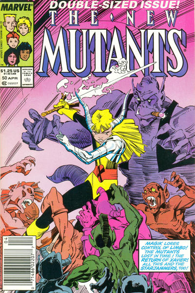 Cover for The New Mutants (Marvel, 1983 series) #50 [Newsstand Edition]