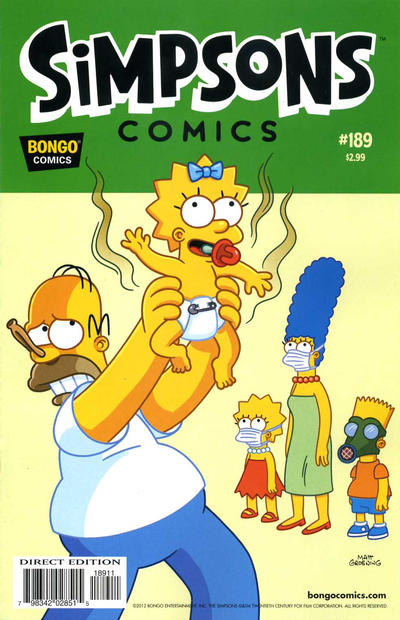 Cover for Simpsons Comics (Bongo, 1993 series) #189