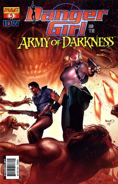 Cover for Danger Girl and the Army of Darkness (Dynamite Entertainment, 2011 series) #5 [Paul Renaud Cover]