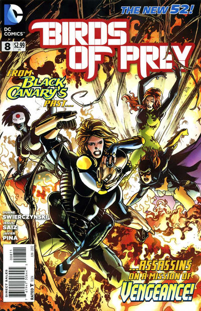 Cover for Birds of Prey (DC, 2011 series) #8
