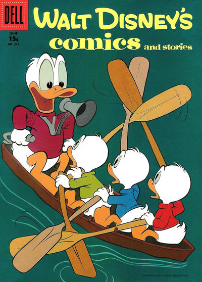 Cover for Walt Disney's Comics and Stories (Dell, 1940 series) #v18#9 (213) [15¢]