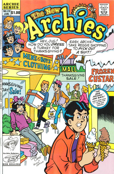 Cover for The New Archies (Archie, 1987 series) #20 [Newsstand]