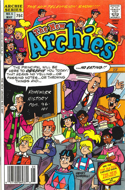 Cover for The New Archies (Archie, 1987 series) #5