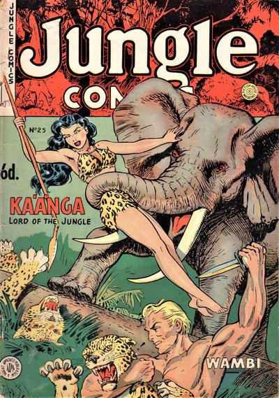 Cover for Jungle Comics (H. John Edwards, 1950 ? series) #25
