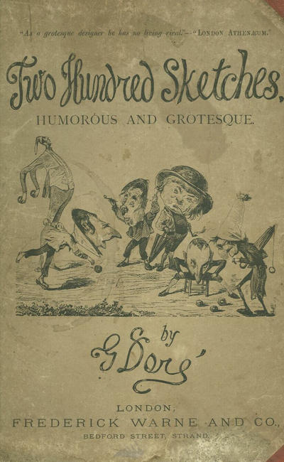 Cover for Two Hundred Sketches Humorous and Grotesque (Frederick Warne & Co., 1866 series)  [Third edition]