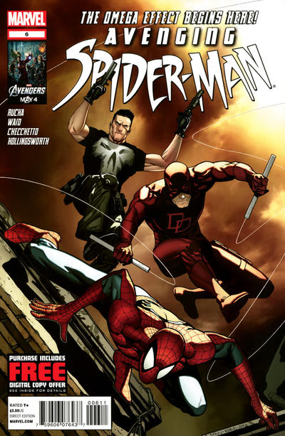 Cover for Avenging Spider-Man (Marvel, 2012 series) #6 [2nd Printing Variant - Marco Checchetto Connecting Cover]