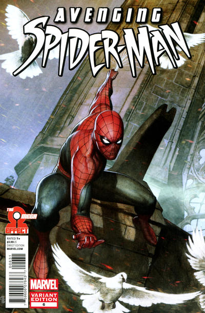 Cover for Avenging Spider-Man (Marvel, 2012 series) #6 [Variant Edition - Marco Checchetto Cover]