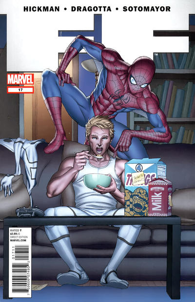 Cover for FF (Marvel, 2011 series) #17 [Avengers Art Appreciation Variant Cover by Julian Totino Tedesco]