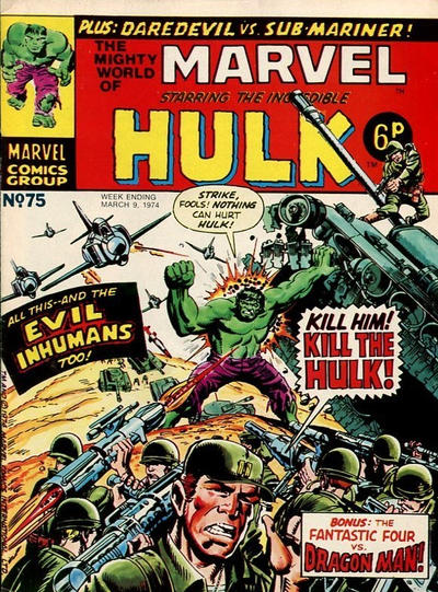 Cover for The Mighty World of Marvel (Marvel UK, 1972 series) #75