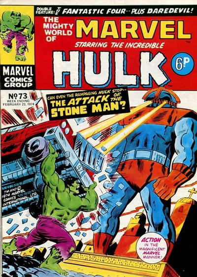 Cover for The Mighty World of Marvel (Marvel UK, 1972 series) #73