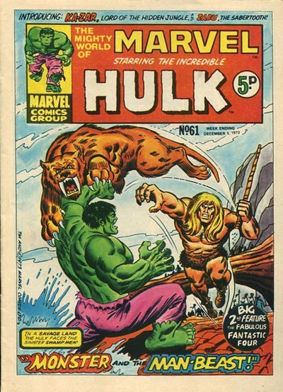 Cover for The Mighty World of Marvel (Marvel UK, 1972 series) #61