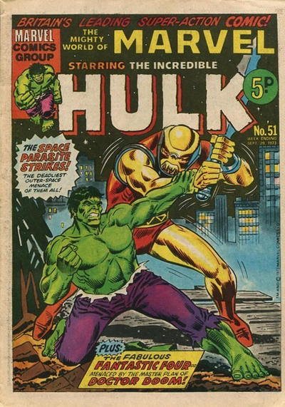 Cover for The Mighty World of Marvel (Marvel UK, 1972 series) #51