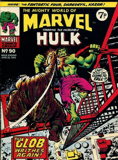 Cover for The Mighty World of Marvel (Marvel UK, 1972 series) #90