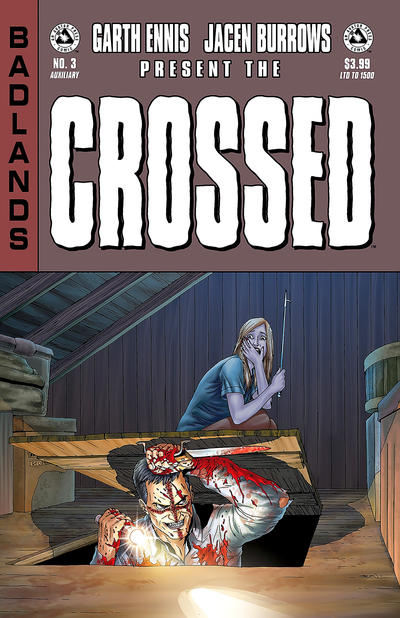 Cover for Crossed Badlands (Avatar Press, 2012 series) #3 [Incentive Red Crossed Cover - Jacen Burrows]