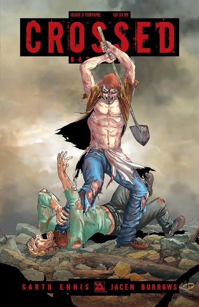 Cover for Crossed Badlands (Avatar Press, 2012 series) #3 [Auxiliary Cover - Jacen Burrows]