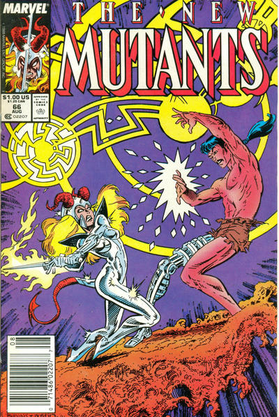 Cover for The New Mutants (Marvel, 1983 series) #66 [Newsstand Edition]