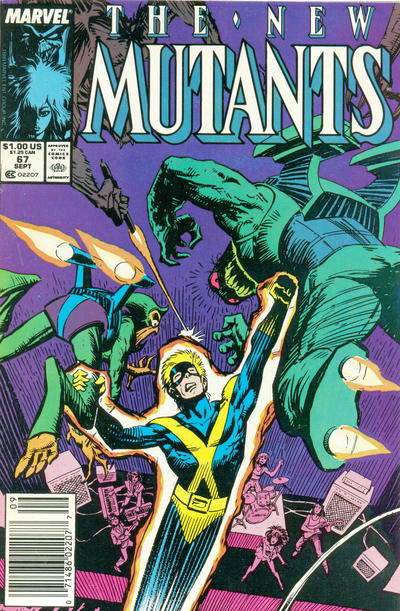 Cover for The New Mutants (Marvel, 1983 series) #67 [Newsstand Edition]