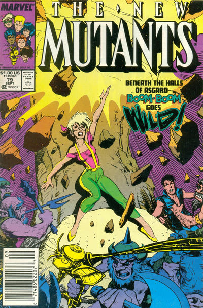 Cover for The New Mutants (Marvel, 1983 series) #79 [Newsstand Edition]