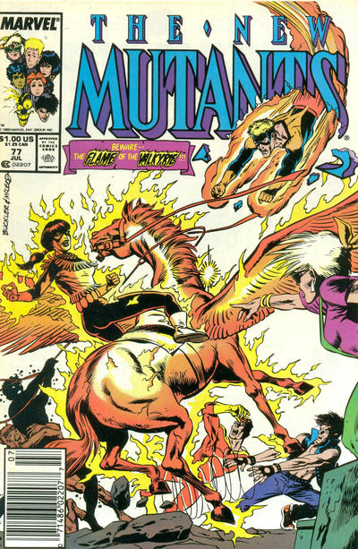 Cover for The New Mutants (Marvel, 1983 series) #77 [Direct Edition]