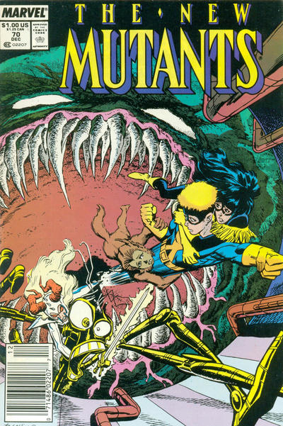 Cover for The New Mutants (Marvel, 1983 series) #70 [Newsstand Edition]