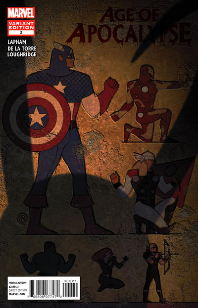 Cover for Age of Apocalypse (Marvel, 2012 series) #2 [Avengers Art Appreciation Variant Cover by Christian Nauck]