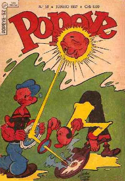 Cover for Popeye (Editora Brasil-América [EBAL], 1953 series) #52