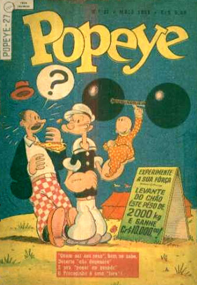 Cover for Popeye (Editora Brasil-América [EBAL], 1953 series) #27