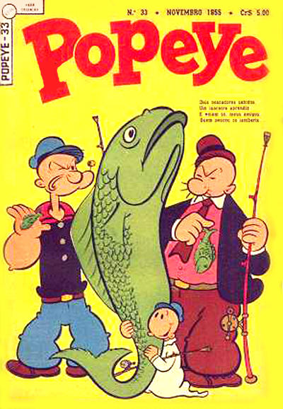 Cover for Popeye (Editora Brasil-América [EBAL], 1953 series) #33