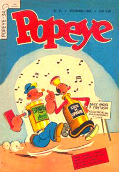 Cover for Popeye (Editora Brasil-América [EBAL], 1953 series) #34