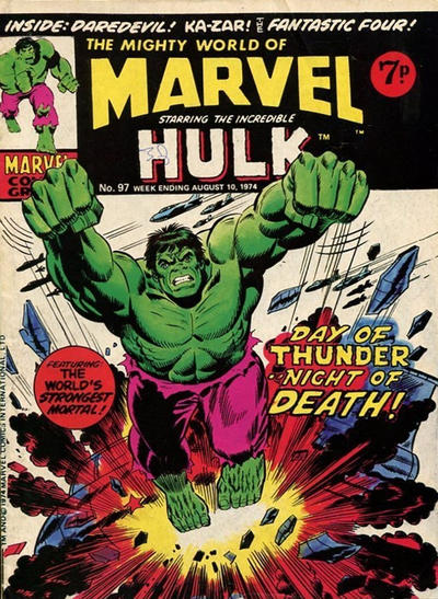 Cover for The Mighty World of Marvel (Marvel UK, 1972 series) #97