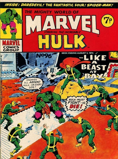 Cover for The Mighty World of Marvel (Marvel UK, 1972 series) #96