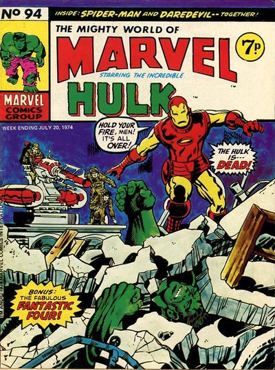 Cover for The Mighty World of Marvel (Marvel UK, 1972 series) #94