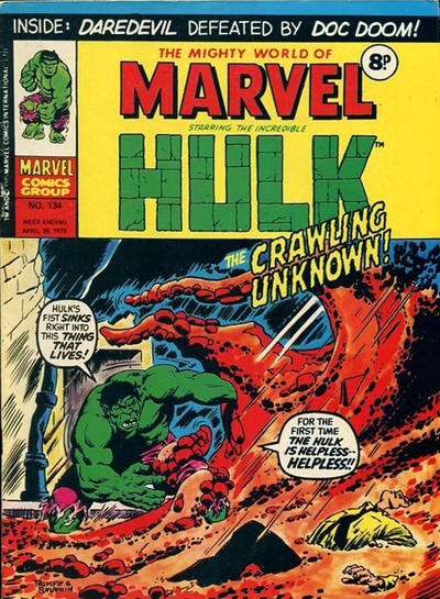 Cover for The Mighty World of Marvel (Marvel UK, 1972 series) #134