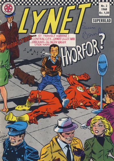 Cover for Lynet (Serieforlaget / Se-Bladene / Stabenfeldt, 1967 series) #2/1968