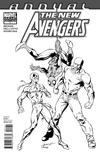 Cover Thumbnail for New Avengers Annual (2011 series) #1 [Sketch Variant Cover by Mark Bagley & Andy Lanning]