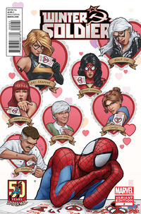 Cover Thumbnail for Winter Soldier (Marvel, 2012 series) #2 [Amazing Spider-Man 50th Anniversary Variant]